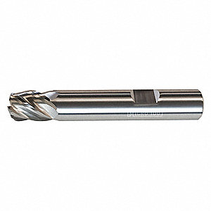 "Square End Mill, 0.5000"" Milling Diameter, Number of Flutes: 5, 1"" Length of Cut, nACRo, VLR"