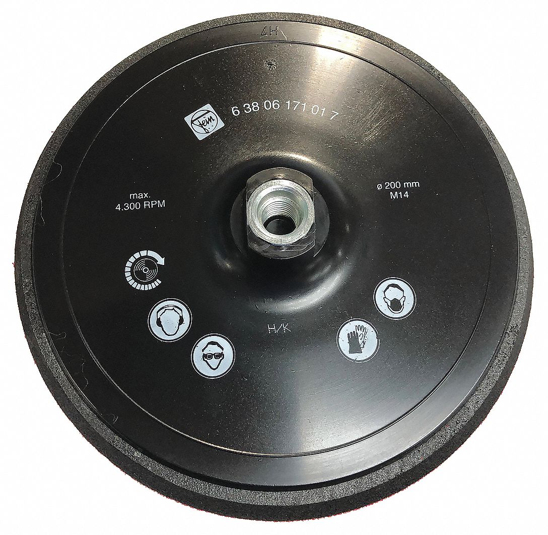 Backing Pad,  Diameter 7 7/8 in