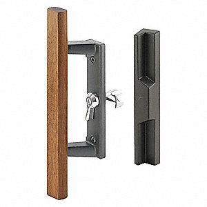 Patio Door Handle Set, Dull