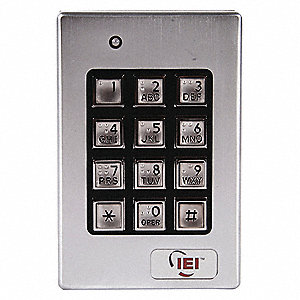 "Weather Resistant Keypad,4-1/2"" H"