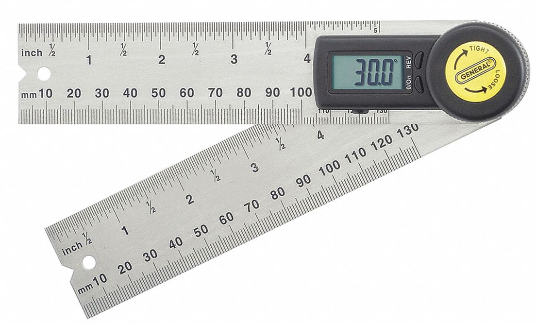 "Digital Angle Finder, 5"" Size, LCD"