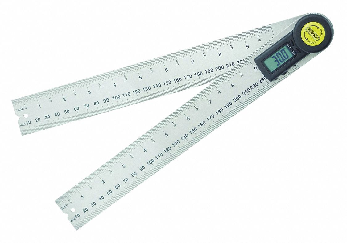 "Digital Angle Finder, 10"" Size, LCD"