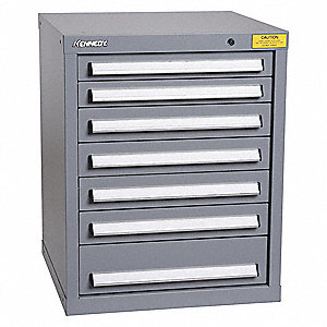 "Drawer Cabinet,Gray,1-5/8"" Overall H"
