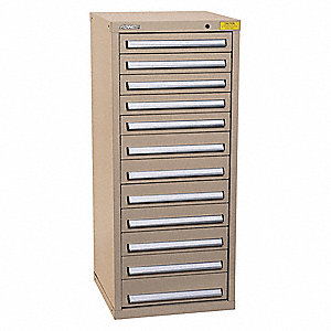 "Mod Drawer Cab,59-1/2"" H,12 Drawer,Tan"