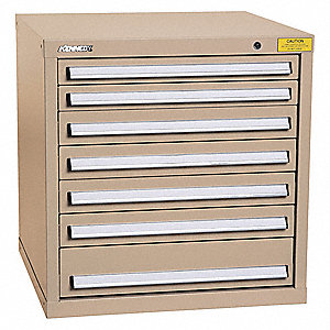 "Mod Drawer Cab,32"" H,8 Drawer,Tan"