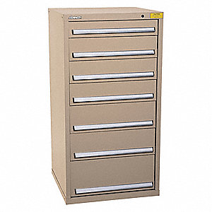 "Mod Drawer Cab,59-1/2"" H,7 Drawer,Tan"