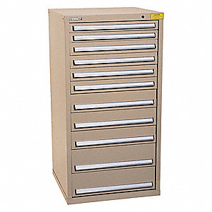 "Drawer Cabinet,Tan,1-5/8"" Overall H"