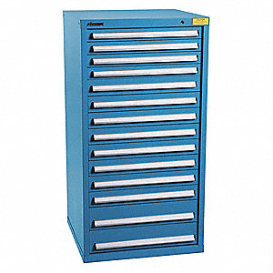 "Drawer Cabinet,Blue,1-5/8"" Overall H"