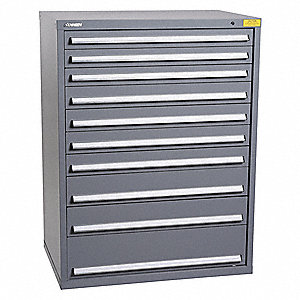 "Stationary Full Height Modular Drawer Cabinet, 10 Drawers, 45-1/4""W x 29-3/4""D x 59-1/2""H"