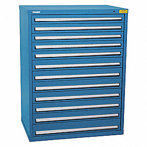 "Stationary Full Height Modular Drawer Cabinet, 12 Drawers, 45-1/4""W x 29-3/4""D x 59-1/2""H"