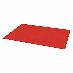 "Magnetic Tool Storage Mat,24"" L,Red"
