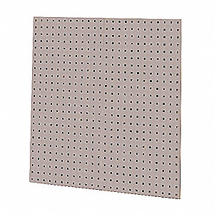 "Steel Pegboard Panel with 60 lb. Load Capacity, 36""H x 18""W, Gray, 1 PR"