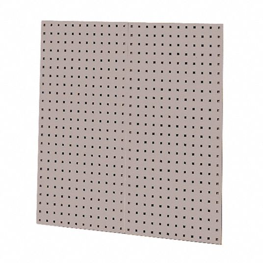 Steel Pegboard Panel with 60 lb Load Capacity, 36 inH x 18 inW, Gray, 1 PR