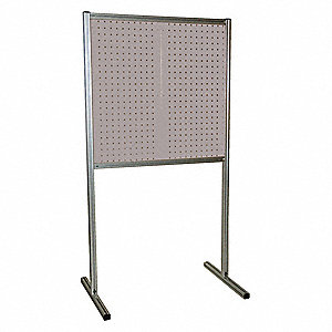 "Steel Pegboard Floor Rack with 1265 lb. Load Capacity, 75""H x 39""W, Gray, 1 EA"
