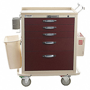 "Treatment Cart,41"" Overall H,Steel"