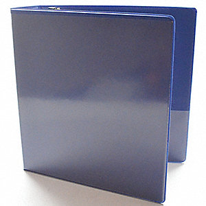 "Blue 1/2"" 3-Ring Binder, 8-1/2"" x 11"" Sheet Size, Vinyl Covered Chipboard, 100 Sheet Capacity - Bind"