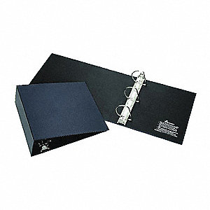 "Blue 3"" 3-Ring Binder, 8-1/2"" x 11"" Sheet Size, Paper Covered Chipboard, 700 Sheet Capacity - Binder"