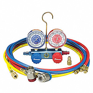 Manifold Gauge Set,2 Valves,3 Hoses