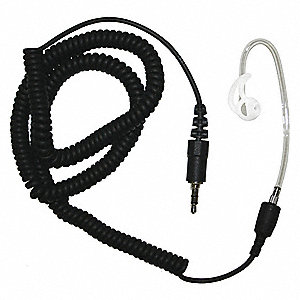 Short Tube Listen Only Earpiece, Black