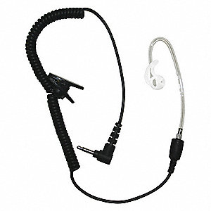 Short Tube Listen Only Earpiece,Black