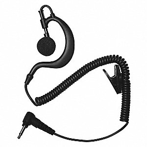 Earhook Listen Only Earpiece, Black