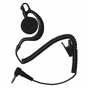 Earhook Listen Only Earpiece,Black
