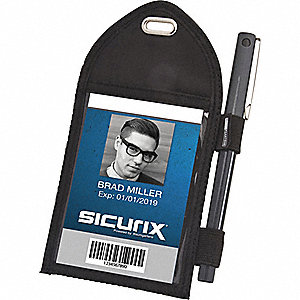 ID Badge Holder,Vertical,PK12