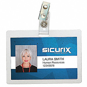 ID Badge Holder,Horizontal,PK100