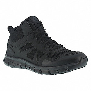 Military/Tactical Tactical Oxford Boots, Toe Type: Plain, Black, Size: 4