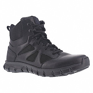 Military/Tactical Tactical Boots, Toe Type: Plain, Black, Size: 7-1/2