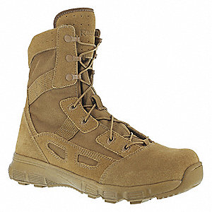 Military/Tactical Tactical Boots, Toe Type: Plain, Coyote, Size: 10