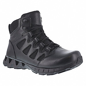 Military/Tactical Tactical Boots, Toe Type: Plain, Black, Size: 7