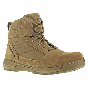 Tactical Boots,9'-1/2W,Coyote,Lace Up,PR