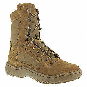 Military/Tactical Tactical Boots, Toe Type: Plain, Coyote, Size: 4-1/2