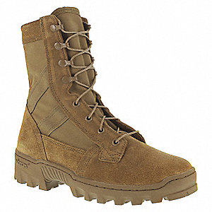 Military/Tactical Tactical Boots, Toe Type: Plain, Coyote, Size: 4