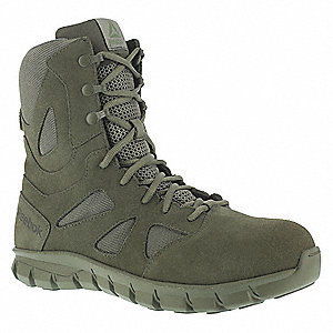 Military/Tactical Tactical Boots, Toe Type: Plain, Sage Green, Size: 12