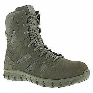 Military/Tactical Tactical Boots, Toe Type: Plain, Sage Green, Size: 7
