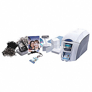 ID Card Printer,Gray/White,For PC or MAC