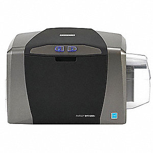 ID Card Printer,Black/Gray,For PC or MAC