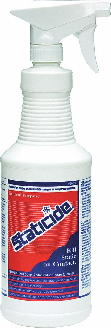 Anti-Static Control Spray,  32 oz,  1 qt,  Ready to Use Recommended Dilution
