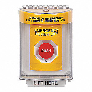 Safety Technology International Emergency Power Off Push
