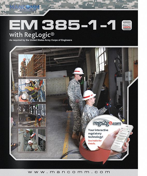 Code Book,  Other,  EM 385-1-1 USACE Regulations,  2nd. Book Edition,  Paperback