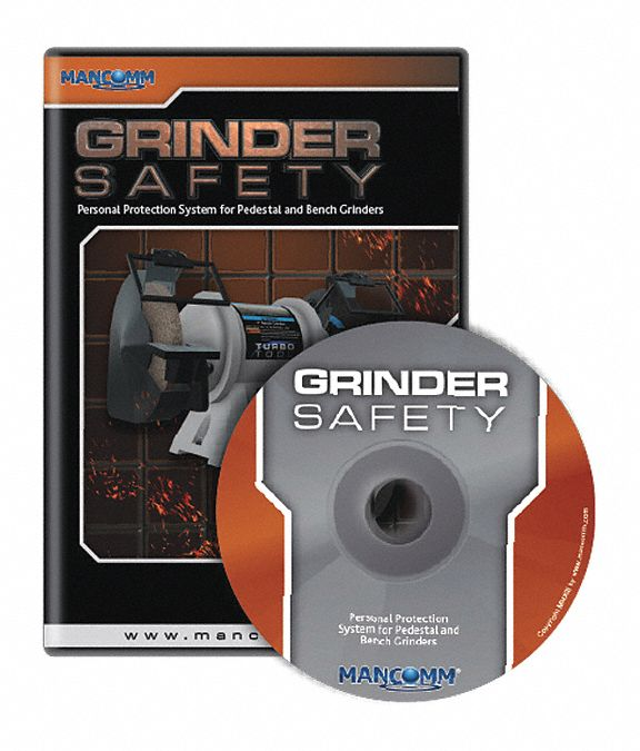 Safety Training Program,  DVD,  Equipment Safety Grinders,  English,  11 min