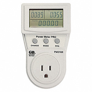 "Energy Management Device,8"" D,125VAC,LCD"