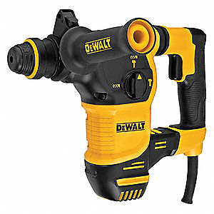 SDS Plus Rotary Hammer, 8.5 Amps, 0 to 4800 Blows per Minute, 120 Voltage