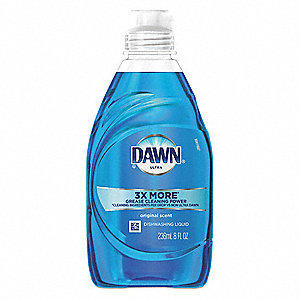 Dishwashing Soap, Hand Wash, 8 oz. Bottle, Unscented Liquid, Ready To Use, 18 PK