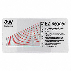 Hematocrit Reader Card&#x3b; PK1