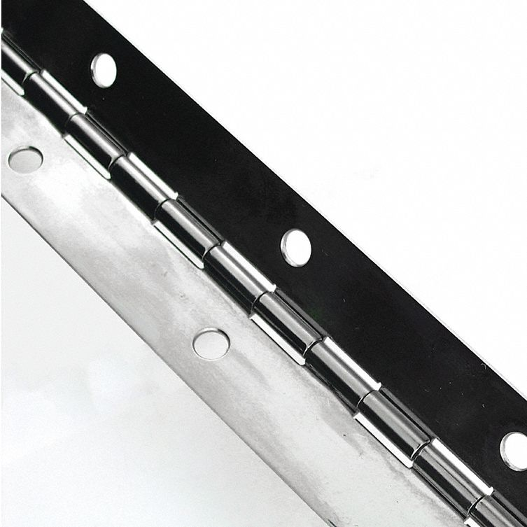 W L,2 In GRAINGER APPROVED 1CBX4 Continuous Hinge,Natural,6 ft