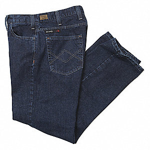 "Denim Flame Resistant Pants, Cotton, Fits Waist Size: 36"", 34"" Inseam, 19.0 cal./cm2 ATPV Rating"
