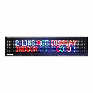 "LED Open Sign,40W,7-13/32"" H"